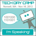I'm Speaking at Tech Day Camp!!